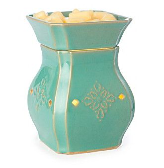 Candle Warmers Etc. Vintage Turquoise Ceramic Illumination Warmer