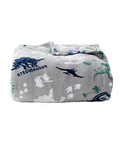 LivingQuarters Micro Cozy Dinos Blanket