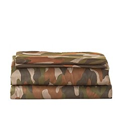 LivingQuarters Easy Care Camo Print Microfiber Sheet Set