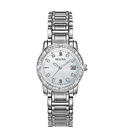 Bulova® Women's Diamond Bezel Watch