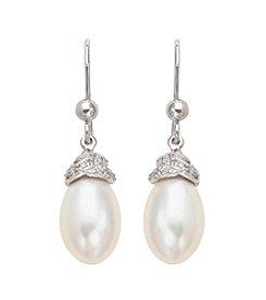Freshwater Pearl Drop Earrings in Sterling Silver