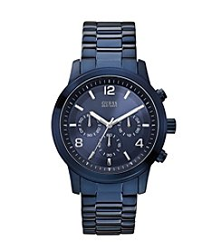 GUESS Blue Contemporary Chronograph Watch