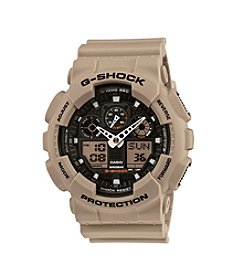 G-Shock XL Ana-Digi Watch Desert Sand Beige with Black Dial