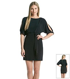 Jessica Simpson Short Belted Cold Shoulder Dress