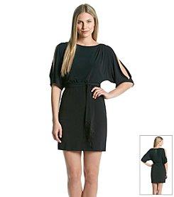 Jessica Simpson Short Belted Cold Shoulder Dress