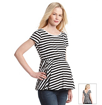 Three Seasons Maternity™ Striped Surplice Back Top plus size,  plus size fashion plus size appare