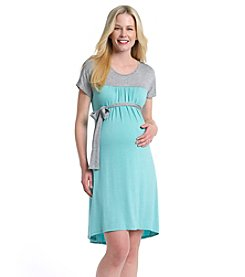 Three Seasons Maternity™ Colorblocked Yoke Belted Dress