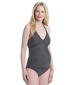 Three Seasons Maternity® Dot Print Tankini Swimsuit Set