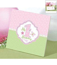 Lillian Rose® 1st Birthday Pink Memory Book