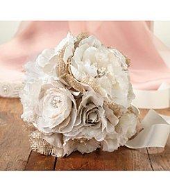 Lillian Rose® Burlap and Flower Bouquet