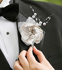 Lillian Rose® Chic and Shabby Boutonniere