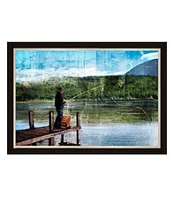 Gone Fishing Framed Art