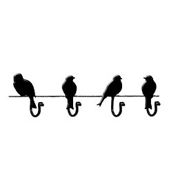 Wire Birds Wall Hooks