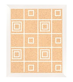 Square Pattern White Cork Memo Board