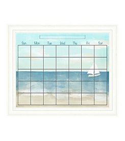 Beach Memo Framed Graphic Calendar