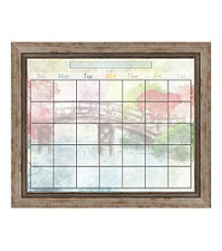 Watergarden Memo Framed Graphic Calendar
