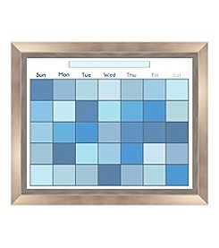 Pixel Blue Memo Framed Graphic Calendar