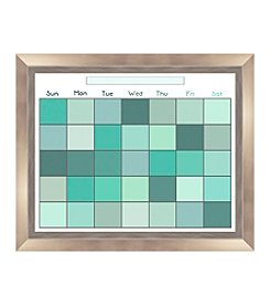 Pixel Green Memo Framed Graphic Calendar