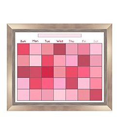 Pixel Pink Memo Framed Graphic Calendar