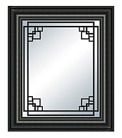 Angular Pattern Wall Mirror
