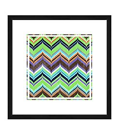 Lime Chevron II Framed Graphic