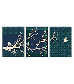 Birds Of Spring Triptych Framed Wall Art