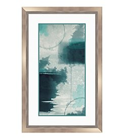Contemporary Blue I Framed Graphic
