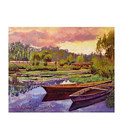 Lakeboats In France Canvas Art