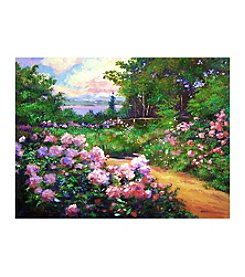 Floral Path Canvas Art