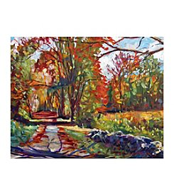 Autumn On The Hudson Canvas Art