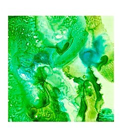 Green Transparent Approach I Canvas Art