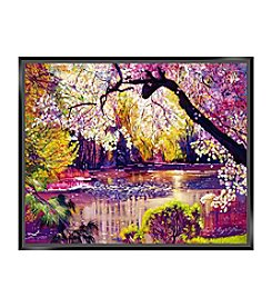 Central Park Spring Pond Canvas Art