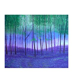 Foggy Forest Canvas Art