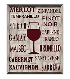 Wine Typography Framed Graphic