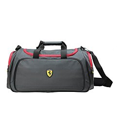 Ferrari® Large Black Carry-On Sport Duffel Bag