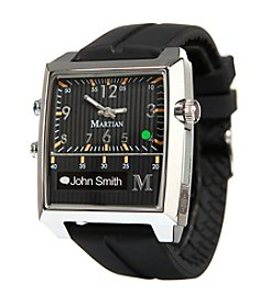 Martian Black Silicone Passport Smartwatch with Voice Command
