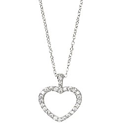 Designs by FMC Sterling Silver Swarovski Zirconia Open Heart 18