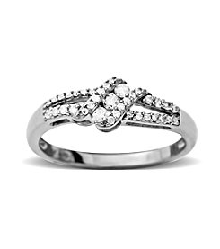 0.20 ct. t.w. Diamond Ring in 10K White Gold