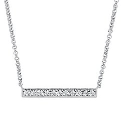 Di Aura 0.04 ct. t.w. Diamond Bar Pendant in Sterling Silver