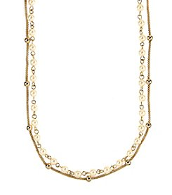 Anne Klein® Goldtone Double Strand Necklace