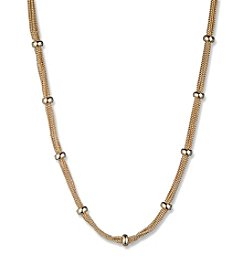 Anne Klein® Silvertone Chain Necklace