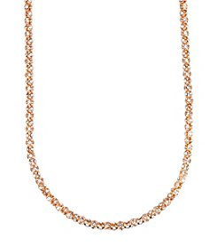 Anne Klein® Long Goldtone Pave Necklace