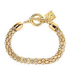 Anne Klein® Goldtone Pave Bracelet