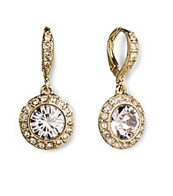 Givenchy® Silk Round Goldtone Drop Earrings