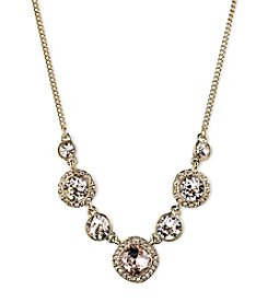 Givenchy® Silk Frontal Goldtone Necklace