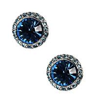 Givenchy® Aqua Button Earrings