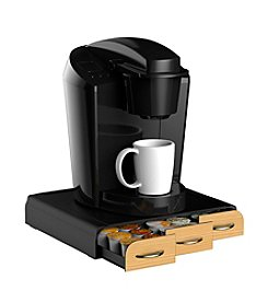 Mind Reader 36-Cup Wood Veneer Coffee Pod Drawer