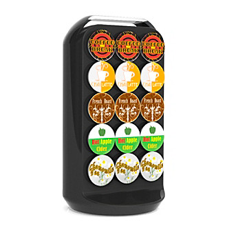 Mind Reader 30-Cup Black Coffee Pod Carousel