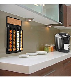 Mind Reader Black with Cork Top Fridge or Wall Mount Coffee Pod Dispenser