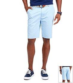 Nautica® Men's ' FCA' Flat Front Twill Shorts